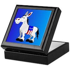 Democrat Donkey Keepsake Box