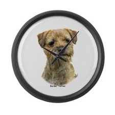 Border Terrier 9A21D-19 Large Wall Clock