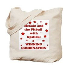 McCain and the Pitbull Tote Bag