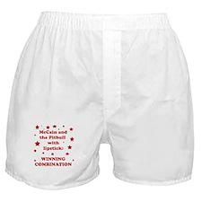 McCain and the Pitbull Boxer Shorts