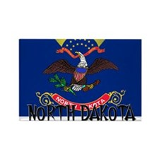 North Dakota Flag Rectangle Magnet