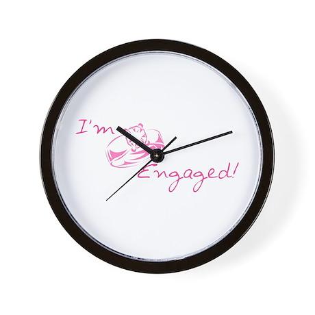 I'm Engaged! (Pink Diamond Ring) Wall Clock