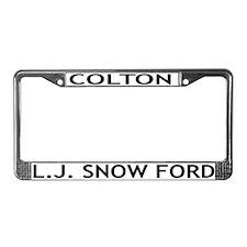 L.J. Snow Ford License Plate Frame