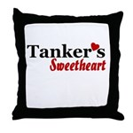 Tanker's Sweetheart Throw Pillow