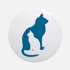 Feline Silhouettes Ornament (Round)