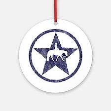Western Pleasure Star Male Rider Ornament (Round)