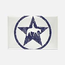 Western Pleasure Star Male Rider Rectangle Magnet