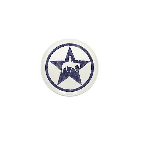 Western Pleasure Star Male Rider Mini Button