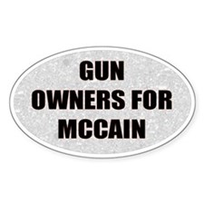 Oval McCain Palin Bumper Stic Oval Decal