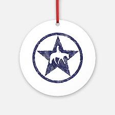 Western Pleasure Star Female Rider Ornament (Round
