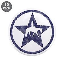 "Western Pleasure Star Female Rider 3.5"" Button (10"