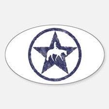 Western Pleasure Star Female Rider Oval Decal