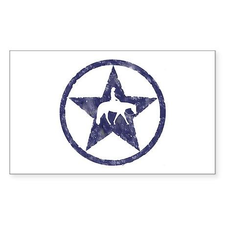 Western Pleasure Star Female Rider Sticker (Rectan