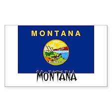 Montana Flag Rectangle Decal
