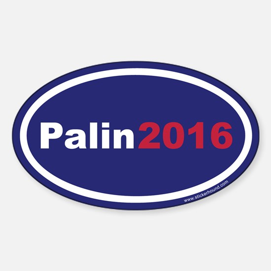 Palin2016 Oval Decal