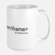 i love iframes Large Mug