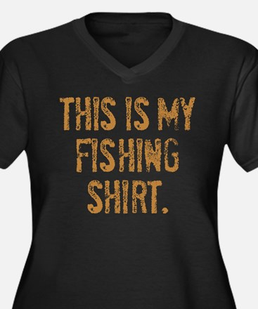 THIS IS MY FISHING SHIRT. Women's Plus Size V-Neck