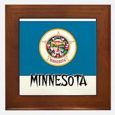 Minnesota Flag Framed Tile
