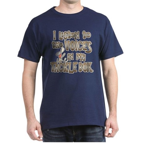 VOICES IN MY TACKLE BOX Dark T-Shirt