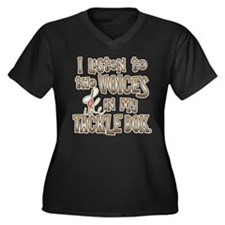 VOICES IN MY TACKLE BOX Women's Plus Size V-Neck D