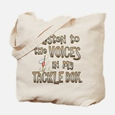 VOICES IN MY TACKLE BOX Tote Bag