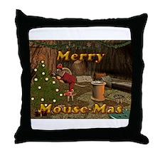 Merry Mousemas Throw Pillow