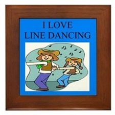 line dancing gifts and t-shir Framed Tile