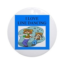 line dancing gifts and t-shir Ornament (Round)