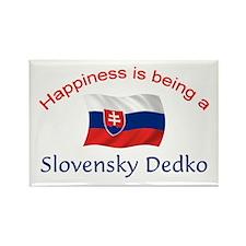 Happy Slovensky Dedko Rectangle Magnet