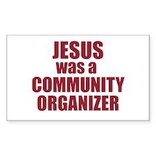 Jesus : Community Organizer Rectangle Decal