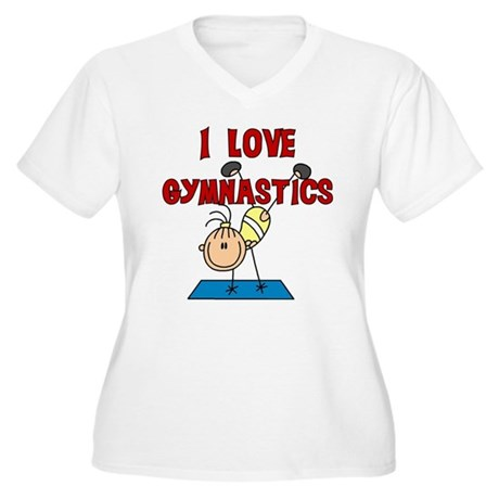I Love Gymnastics Women's Plus Size V-Neck T-Shirt