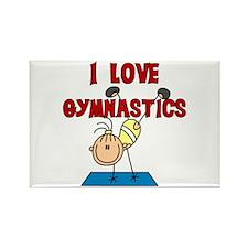 I Love Gymnastics Rectangle Magnet