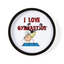 I Love Gymnastics Wall Clock