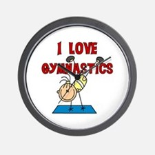 I Love Gymnastics Wall Clock