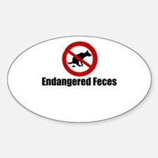 Endangered Feces Oval Decal