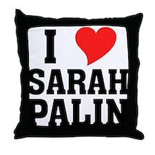 I Heart Sarah Palin Throw Pillow