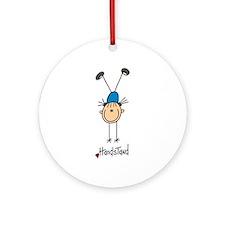 Gymnastics Handstand Ornament (Round)