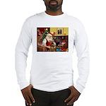 Santas Airedale Long Sleeve T-Shirt