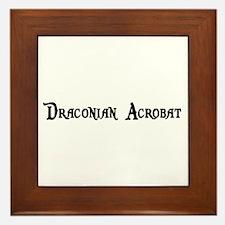 Draconian Acrobat Framed Tile