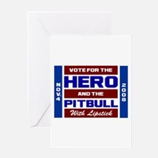 Hero & The Pitbull Greeting Card