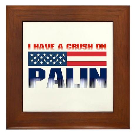 Crush on Palin Framed Tile