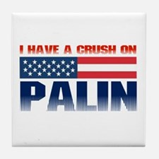 Crush on Palin Tile Coaster
