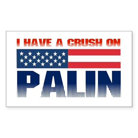 Crush on Palin Rectangle Sticker