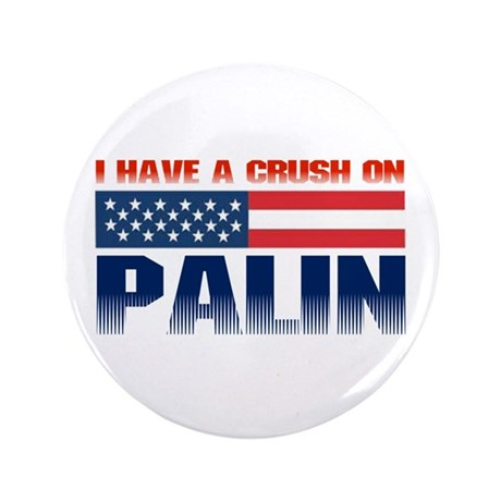 "Crush on Palin 3.5"" Button (100 pack)"
