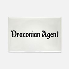 Draconian Agent Rectangle Magnet