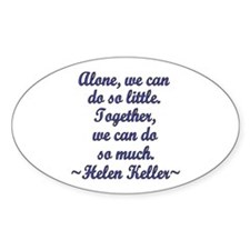 Together Oval Decal