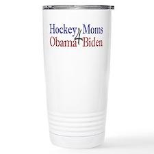 Hockey Moms 4 Obama Biden Travel Mug