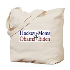 Hockey Moms 4 Obama Biden Tote Bag