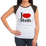 I Love Math Women's Cap Sleeve T-Shirt