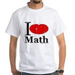I Love Math White T-Shirt